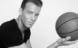 Portrait of a male basketball player